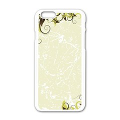 Flower Star Floral Green Camuflage Leaf Frame Apple Iphone 6/6s White Enamel Case by Mariart