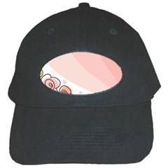 Flower Sunflower Wave Waves Pink Black Cap by Mariart