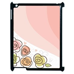 Flower Sunflower Wave Waves Pink Apple Ipad 2 Case (black) by Mariart