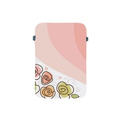 Flower Sunflower Wave Waves Pink Apple Ipad Mini Protective Soft Cases by Mariart
