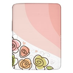 Flower Sunflower Wave Waves Pink Samsung Galaxy Tab 3 (10 1 ) P5200 Hardshell Case  by Mariart