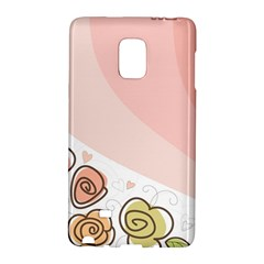 Flower Sunflower Wave Waves Pink Galaxy Note Edge by Mariart