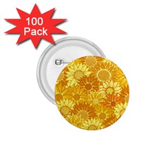 Flower Sunflower Floral Beauty Sexy 1 75  Buttons (100 Pack)