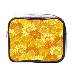 Flower Sunflower Floral Beauty Sexy Mini Toiletries Bags by Mariart