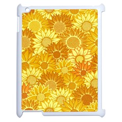 Flower Sunflower Floral Beauty Sexy Apple Ipad 2 Case (white) by Mariart