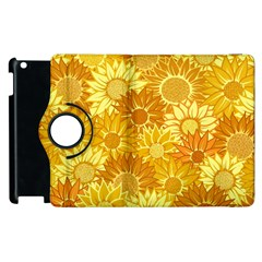 Flower Sunflower Floral Beauty Sexy Apple Ipad 2 Flip 360 Case by Mariart