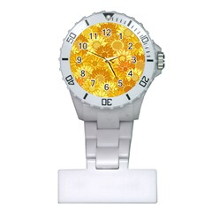 Flower Sunflower Floral Beauty Sexy Plastic Nurses Watch by Mariart