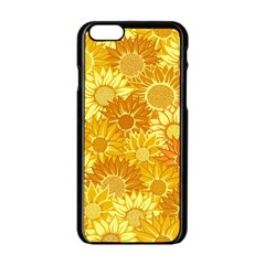 Flower Sunflower Floral Beauty Sexy Apple Iphone 6/6s Black Enamel Case by Mariart