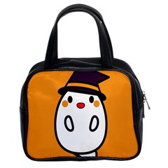 Halloween Ghost Orange Classic Handbags (2 Sides) by Mariart