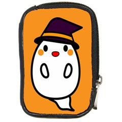 Halloween Ghost Orange Compact Camera Cases by Mariart