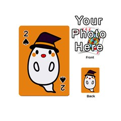 Halloween Ghost Orange Playing Cards 54 (mini)  by Mariart