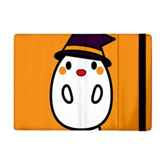 Halloween Ghost Orange Apple Ipad Mini Flip Case by Mariart