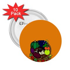 Healthy Vegetables Food 2 25  Buttons (10 Pack)