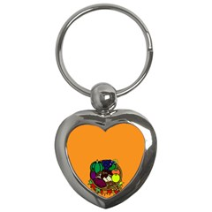 Healthy Vegetables Food Key Chains (heart)  by Mariart