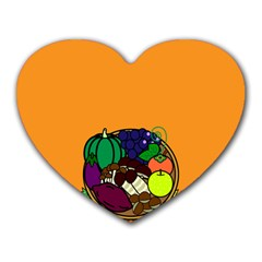 Healthy Vegetables Food Heart Mousepads by Mariart