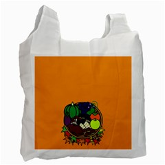 Healthy Vegetables Food Recycle Bag (one Side) by Mariart