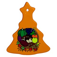 Healthy Vegetables Food Christmas Tree Ornament (two Sides) by Mariart