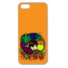 Healthy Vegetables Food Apple Seamless Iphone 5 Case (clear) by Mariart