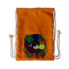 Healthy Vegetables Food Drawstring Bag (small) by Mariart