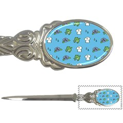 Frog Ghost Rain Flower Green Animals Letter Openers by Mariart