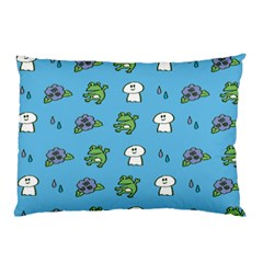 Frog Ghost Rain Flower Green Animals Pillow Case by Mariart