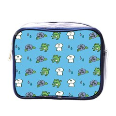 Frog Ghost Rain Flower Green Animals Mini Toiletries Bags by Mariart