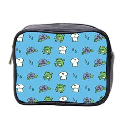 Frog Ghost Rain Flower Green Animals Mini Toiletries Bag 2 Side by Mariart