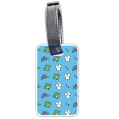 Frog Ghost Rain Flower Green Animals Luggage Tags (one Side)