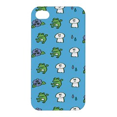 Frog Ghost Rain Flower Green Animals Apple Iphone 4/4s Hardshell Case by Mariart