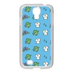 Frog Ghost Rain Flower Green Animals Samsung Galaxy S4 I9500/ I9505 Case (white)
