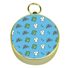 Frog Ghost Rain Flower Green Animals Gold Compasses