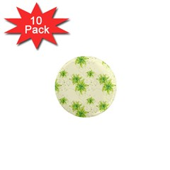Leaf Green Star Beauty 1  Mini Magnet (10 Pack)  by Mariart