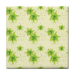 Leaf Green Star Beauty Face Towel by Mariart
