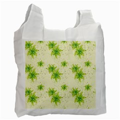 Leaf Green Star Beauty Recycle Bag (one Side) by Mariart