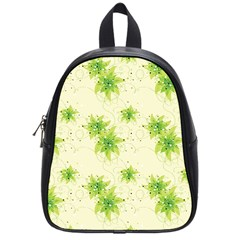 Leaf Green Star Beauty School Bag (small) by Mariart