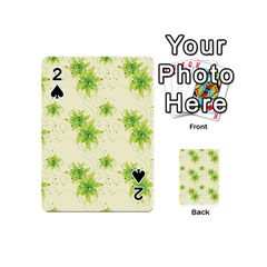 Leaf Green Star Beauty Playing Cards 54 (mini)  by Mariart