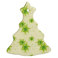 Leaf Green Star Beauty Christmas Tree Ornament (two Sides) by Mariart