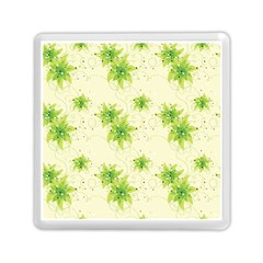 Leaf Green Star Beauty Memory Card Reader (square)  by Mariart