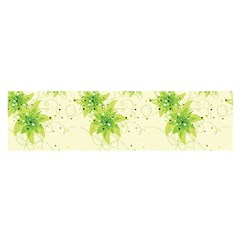 Leaf Green Star Beauty Satin Scarf (oblong) by Mariart