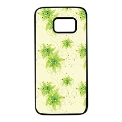 Leaf Green Star Beauty Samsung Galaxy S7 Black Seamless Case by Mariart