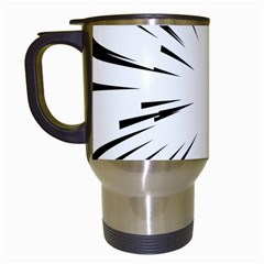 Line Black Sun Arrow Travel Mugs (white) by Mariart