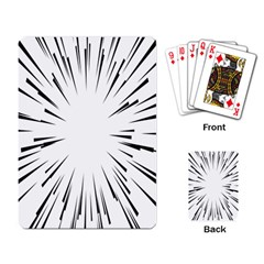 Line Black Sun Arrow Playing Card by Mariart