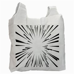 Line Black Sun Arrow Recycle Bag (one Side) by Mariart
