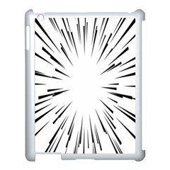 Line Black Sun Arrow Apple Ipad 3/4 Case (white) by Mariart