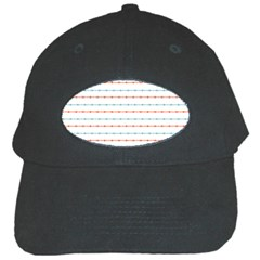 Line Polka Dots Blue Red Sexy Black Cap