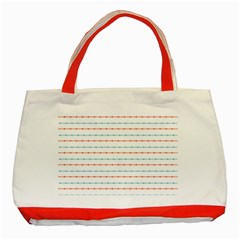 Line Polka Dots Blue Red Sexy Classic Tote Bag (red) by Mariart