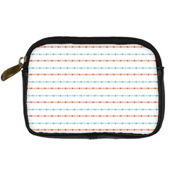 Line Polka Dots Blue Red Sexy Digital Camera Cases by Mariart