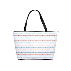 Line Polka Dots Blue Red Sexy Shoulder Handbags by Mariart