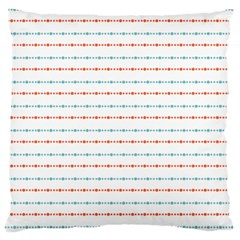 Line Polka Dots Blue Red Sexy Large Cushion Case (two Sides) by Mariart