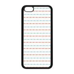 Line Polka Dots Blue Red Sexy Apple Iphone 5c Seamless Case (black) by Mariart
